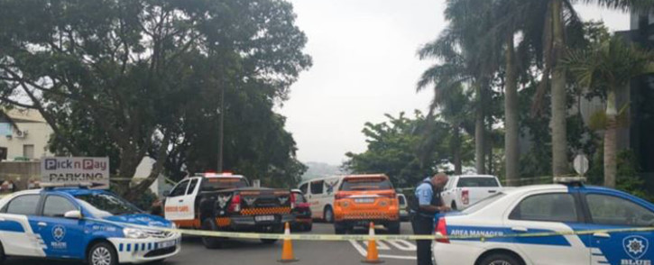 A suspect was shot and killed by police after three men robbed a mall in Westville on 28 November 2019. Picture: Twitter/@rescuecare