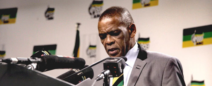 FILE: ANC secretary-general Ace Magashule at the post-NEC media briefing at Luthuli House. Picture: @MYANC/Twitter