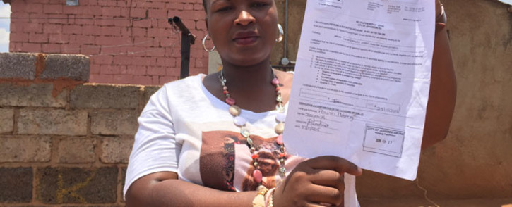 Phiri resident, Gugu Sechauke, who has been waiting for a house from government for 15 years. Picture: Vumani Mkhize/EWN.