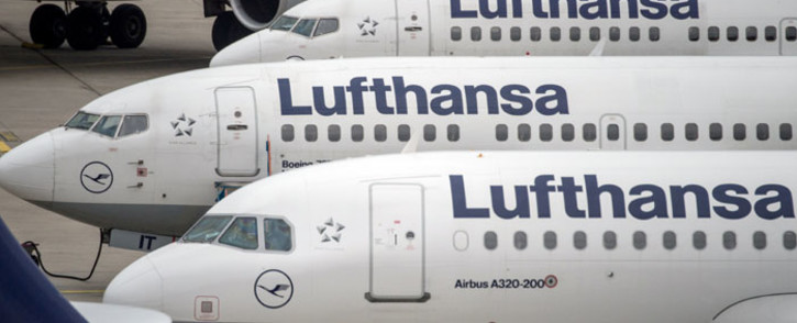 FILE: Planes of German airline Lufthansa parked at the airport in Frankfurt am Main, western Germany. Picture: AFP
