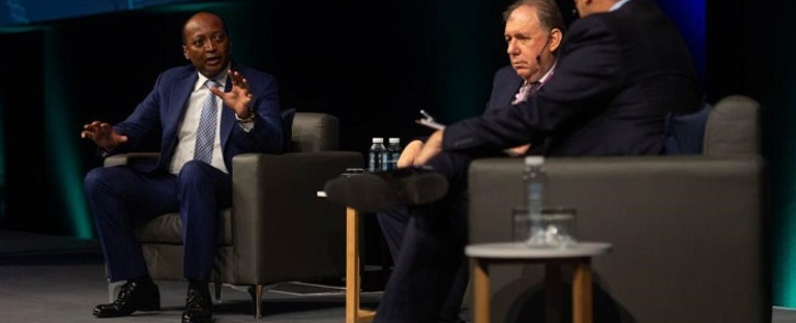 Dr Patrice Motsepe, Exec Chairman of African Rainbow Minerals, & Stephen Koseff, Former Chief Exec Officer of the Investec Group, address the future of SA and giving hope to our youth. at the 2018 Discovery Health Summit on 0 November 2018. Picture: @Discovery_SA/Twitter.com
