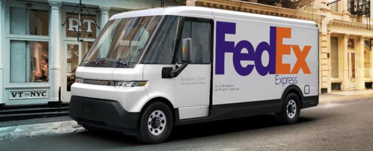 A BrightDrop EV 600 used by FedEx. Picture: @FedEx/Twitter