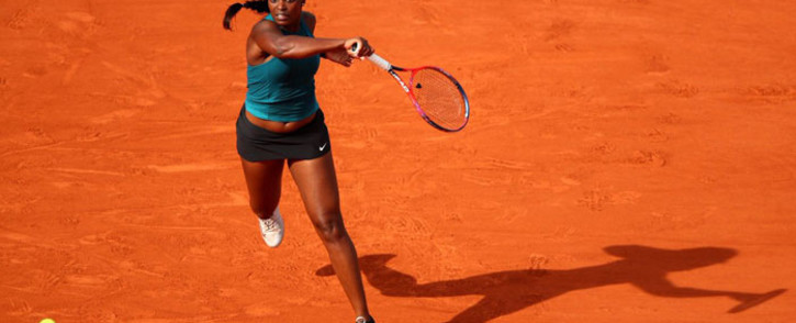 Sloane Stephens in action at the French Open. Picture: @SloaneStephens/Twitter
