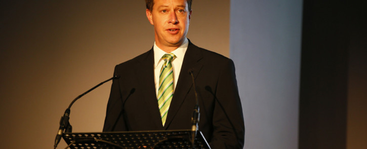FILE: Jurie Roux, CEO of the South African Rugby Union (Saru) speaks during the unveiling of the new Springbok Jersey at a function in Cape Town, South Africa 24 April 2014. Picture: EPA/Kim Ludbrook.
