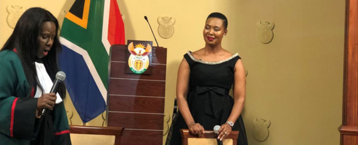 Stella Ndabeni-Abrahams was appointed to take over the merged the Communications and Telecommunications and Postal Services Departments. Picture: @SAGovNews/Twitter