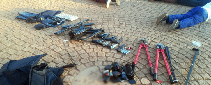 Police arrested several people and over 25 firearms were seized during a hostage incident at the International Pentecost Holiness Church in Zuurbekom on 11 July 2020. Picture: SAPS.