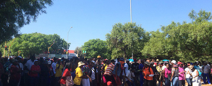 FILE: Members of the EFF student command protest outside University of Pretoria. Picture: Barry Bateman/EWN.