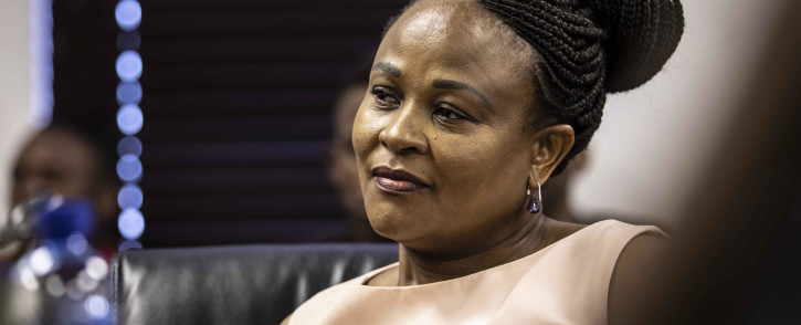 Public Protector Busisiwe Mhkwebane at the launch of the Cheryl Zondo foundation. Picture: Abigail Javier/EWN