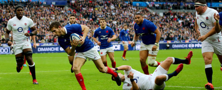 France's Vincent Rattez scores a try during the Six Nations match against England on 2 February 2020. Picture: @SixNationsRugby/Twitter