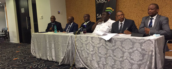 FILE: The SABC delegation briefs the media following its walkout in Parliament on 07 December 2016. Picture: Monique Mortlock/EWN.