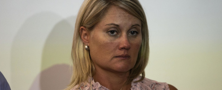 Elana Barkhuizen, the suspended teacher from Laerskool Schweizer Reneke.  Picture: Christa Eybers/EWN