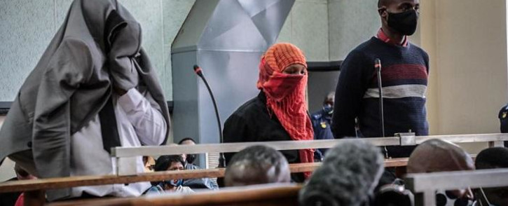 The police officers accused of murdering Nathaniel Julies appear in the Proteas Magistrates Court on 22 September 2020. Picture: Abigail Javier/EWN