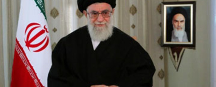 A picture released by the office of Iran's supreme leader Ayatollah Ali Khamenei addressing the nation on the occasion the Iranian New Year on March 20, 2012. Picture: AFP