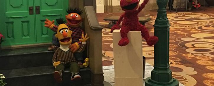 'Sesame Street' puppets Bert, Ernie (left) and Elmo (right). Picture: @SesameWorkshop/Twitter