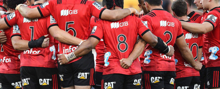 Members of the Canterbury Crusaders. Picture: @crusadersrugby/Twitter