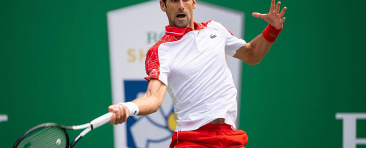 FILE: Novak Djokovic in action. Picture: @ATPWorldTour/Twitter
