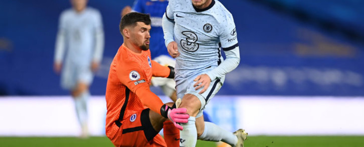 Chelsea's Timo Werner is brought down by Brighton goalkeeper Mat Ryan for a penalty during their English Premier League match on 14 September 2020. Picture: @ChelseaFC/Twitter