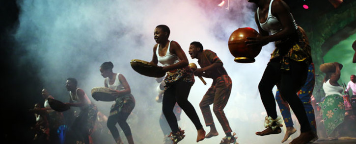 FILE: Indigenous dancers from The Medleko Meropa Band perform during a show titled 'Journey of the Drum' at the South African State Theatre to commemorate Africa Day on 25 May 2018 in Pretoria, South Africa. Picture: AFP