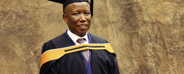 EFF leader Julius Malema graduated BA Honours degree in Philosophy with Unisa in Pretoria. Picture: Sethembiso Zulu/EWN