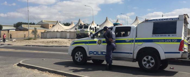 FILE: A police van seen in Delft following a shooting. Picture: Eyewitness News.