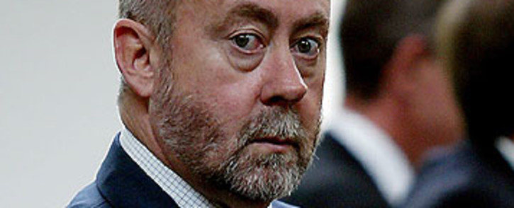 Apartheid chemical and biological warfare expert Dr Wouter Basson leaves the Constitutional Court. Picture: Sapa