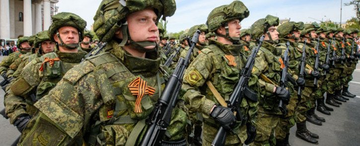 FILE: Russia said it had sent tens of thousands of troops to the country's south and west and to Crimea, which Moscow annexed from Ukraine in 2014, for a series of military drills. Picture: AFP