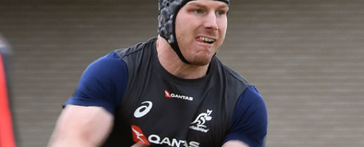 FILE: Australia loose forward David Pocock during a training session. Picture: AFP