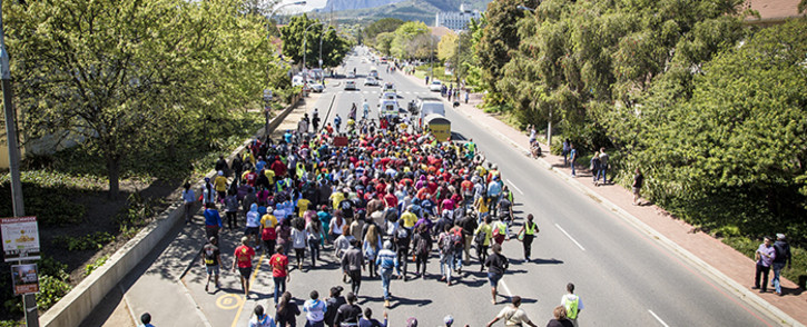 FILE: Sasco members protestingb. Picture: EWN
