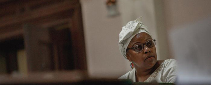 Former SAA board chairperson Dudu Myeni testifying in her delinquency case at the High Court in Pretoria. Picture: Sethembiso Zulu/EWN