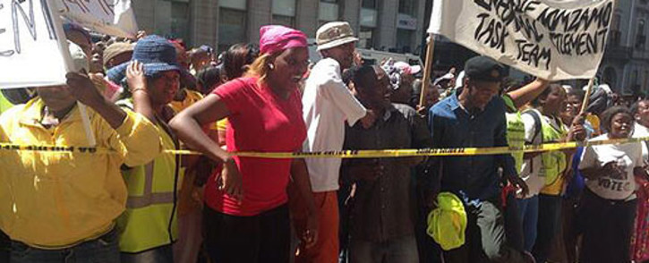 A group protests for better sanitation and housing in Cape Town on 30 September 2013. Picture: Shamiela Fisher/EWN