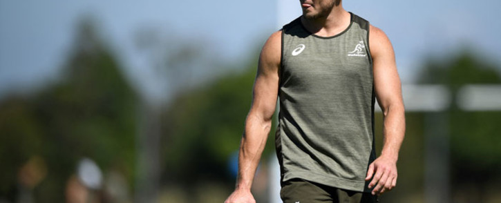 FILE: Australia James O'Connor attends a captain's run training session at David Phillips Sports Complex in Sydney on 4 December 2020, ahead of Tri-Nations rugby match between Argentina and Australia. Picture: Joel Carrett/AFP