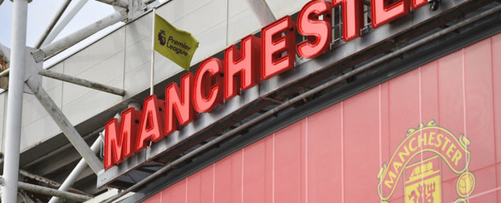 A view of Manchester United's Old Trafford stadium in Manchester, northwest England on 21 April 2021. Picture: Oli Scarff/AFP