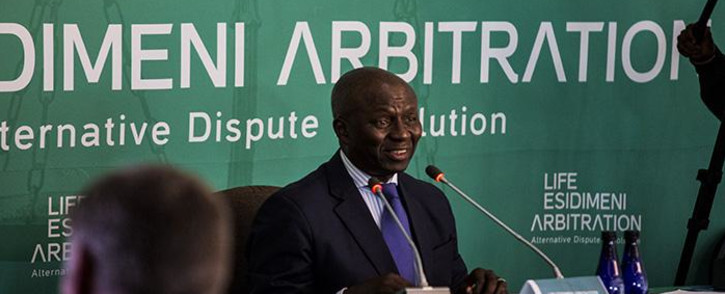 FILE: Retired Deputy Chief Justice Dikgang Moseneke delivers the Life Esidimeni report on 18 March 2018. Picture: Kayleen Morgan/EWN