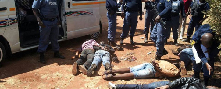 Police arrested five suspects in the Centurion Mall robbery on 17 October 2014. Picture: Eblockwatch Facebook page.