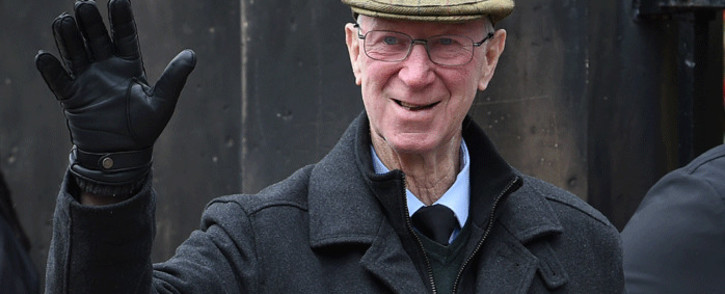 In this file photo taken on March 04, 2019 Jack Charlton arrives at Stoke Minster church for the funeral service of England's former goalkeeper Gordon Banks in Stoke-on-Trent, central England. Picture: AFP