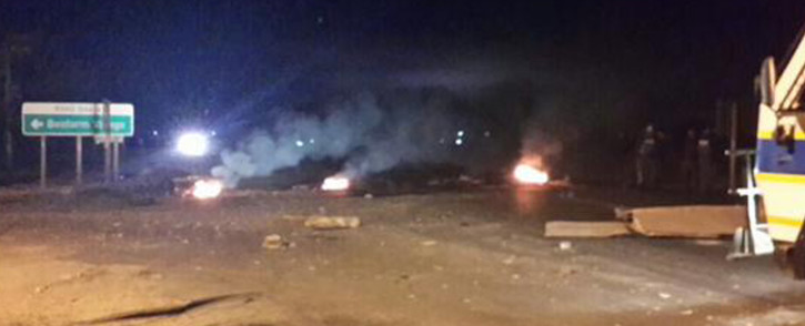 Angry residents of Hanover near Colesberg forced the closure of the N1 for six hours yesterday. Picture: Saps.