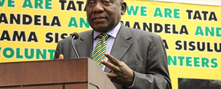 ANC president Cyril Ramaphosa. Picture: @MYANC/Twitter