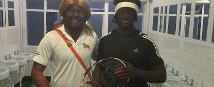 Stellenbosch students in 'black face' as Venus and Serena Williams. Picture: Twitter