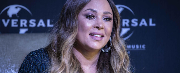 Canadian singer Tamia at Universal Music Group in Rosebank for a press conference ahead of her tour in South Africa. Picture: Abigail Javier/EWN
