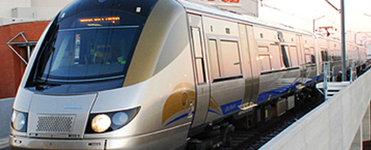 FILE: Gautrain arriving at OR Tambo station. Picture: EWN