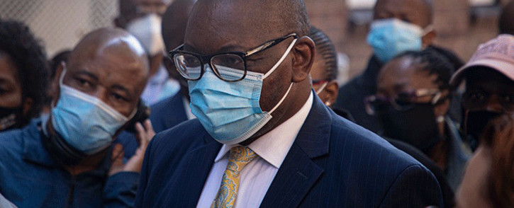 Gauteng Premier David Makhura went on a walkabout at the Wits RHI in Hillbrow, Johannesburg, on 20 April 2021. Picture: Xanderleigh Dookey/Eyewitness News.