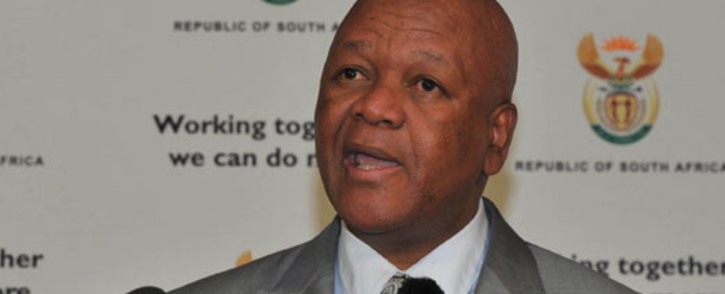 Justice Minister Jeff Radebe speaks during a government media briefing on 14 September 2012. Picture: GCIS.