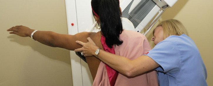 FILE: Helen Darling of the San Antonio Silver Stars receives a screening mammogram at Christus Santa Rosa Hospital-Westover Hills on 18 August 2009 at the AT&T Center in San Antonio, Texas. Picture: AFP