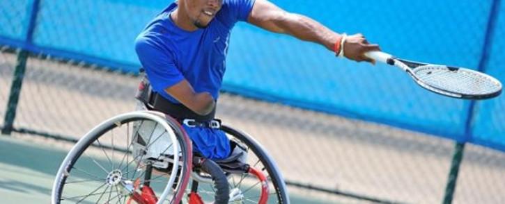 FILE: South African quadriplegic tennis star Lucas Sithole. Picture: Facebook.com