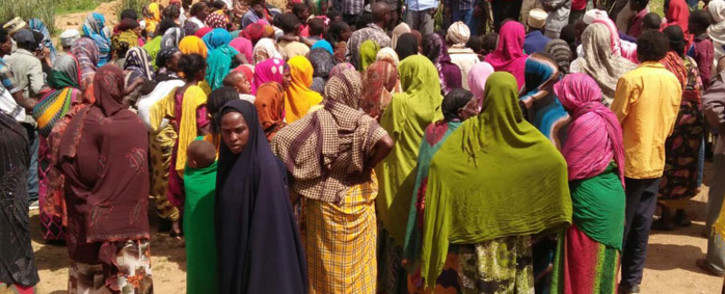 Ethiopian refugees at a Kenyan Red Cross camp. Picture: @KenyaRedCross/Twitter