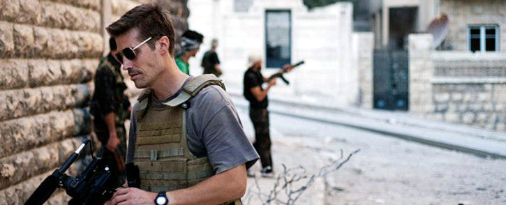 FILE: US Journalist James Foley in Syria in 2012. Picture: Manu Brabo/www.freejamesfoley.org.