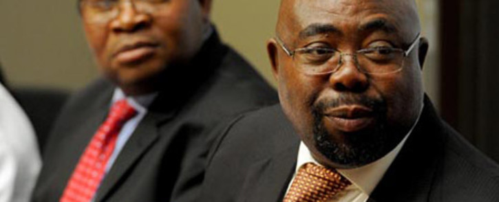 FILE: Public Works Minister Thulas Nxesi (R). Picture: EWN
