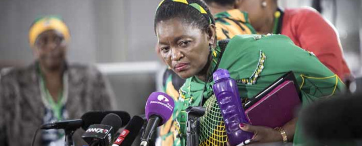 """ANCWL President Bathabile Dlamini says that Nkosazana Dlamini Zuma was reduced to a """"president's ex-wife"""" as opposed to being recognised as a candidate like the male politicians who were running for ANC's top spot. Picture: Thomas Holder/EWN."""