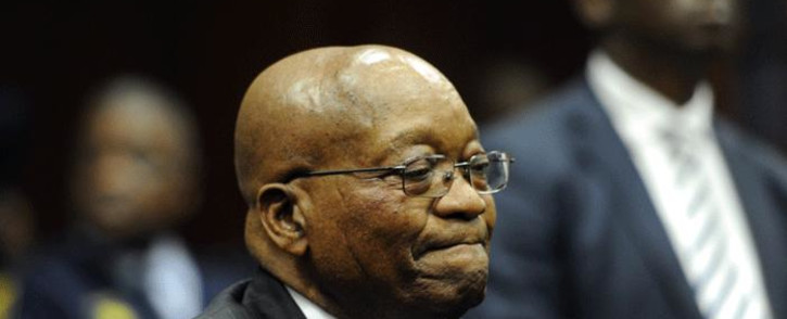 FILE: Former South African President Jacob Zuma in the Durban High Court on 8 June 2018. He is charged with 16 counts that include fraud' corruption and racketeering. Picture: Felix Dlangamandla/Pool