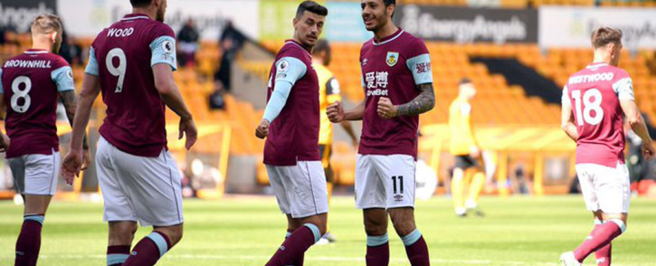 Burnley were sharper and more committed but mid-table Wolves contributed to their downfall with some sloppy defensive work at an empty Molineux. Picture: Twitter @BurnleyOfficial